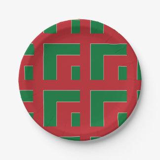 赤いですか緑色のコーナー(MG) ペーパープレート