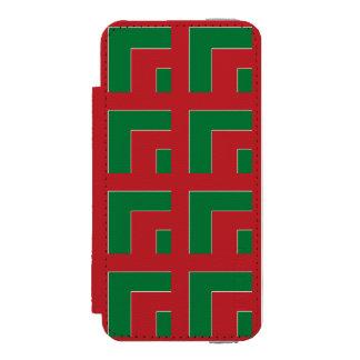 赤いですか緑色のコーナー(MG) INCIPIO WATSON™ iPhone 5 財布 ケース