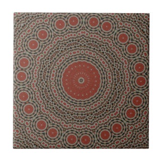 赤いですか茶色の芸術のデザインのタイル タイル