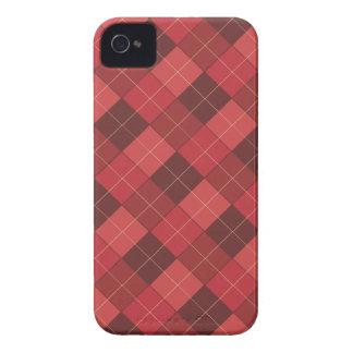 赤いの洗練されたアーガイル、赤い、赤い Case-Mate iPhone 4 ケース