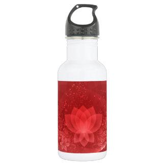 赤いはすの花 ウォーターボトル