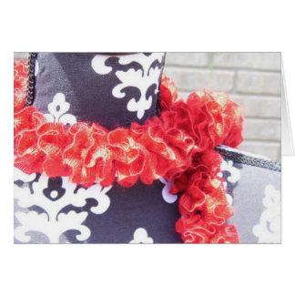 赤いひだのスカーフ カード