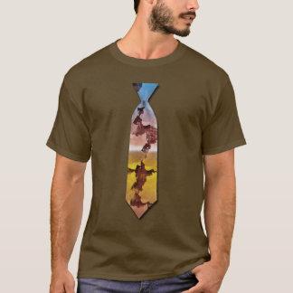 赤いひびによって印刷されるタイ Tシャツ