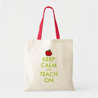 赤いりんごの先生のトートバック|は平静を保ち、教えます トートバッグ
