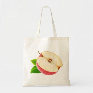 赤いりんごの半分 トートバッグ