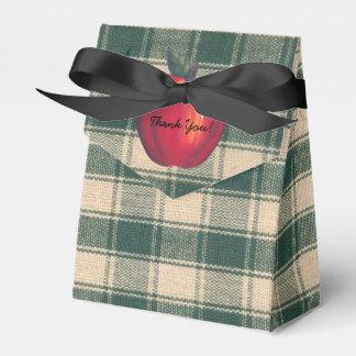 赤いりんごの緑の格子縞 フェイバーボックス