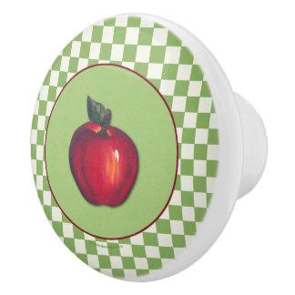 赤いりんごの緑の点検 セラミックノブ