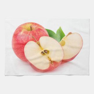 赤いりんごを切って下さい キッチンタオル