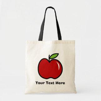 赤いりんご| Personalizableが付いている先生のトートバック トートバッグ