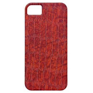 赤いわにプリントの穹窖のiPhone 5 iPhone SE/5/5s ケース