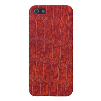 赤いわに革パターンSpeckの場合のiPhone 4 iPhone 5 Cover