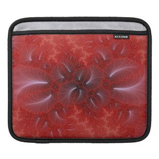 赤いアイリスiPadの袖 iPadスリーブ