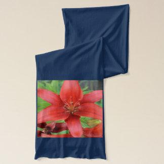 赤いアジアユリ スカーフ