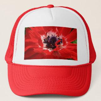 赤いアネモネ キャップ
