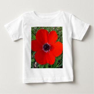 赤いアネモネ ベビーTシャツ