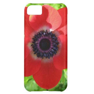 赤いアネモネ iPhone5Cケース