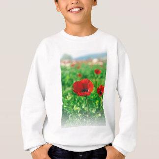 赤いアネモネCoronaria スウェットシャツ