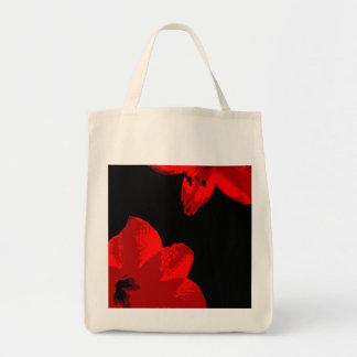 赤いアマリリスのデュオ トートバッグ