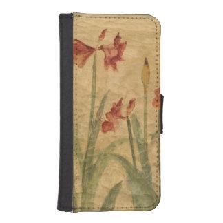 赤いアマリリスの列 iPhoneSE/5/5sウォレットケース