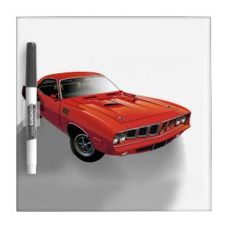 赤いアメリカ筋肉車 ホワイトボード