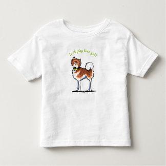 赤いアラスカンマラミュートのPlaytime トドラーTシャツ