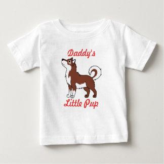 赤いアラスカンマラミュート ベビーTシャツ