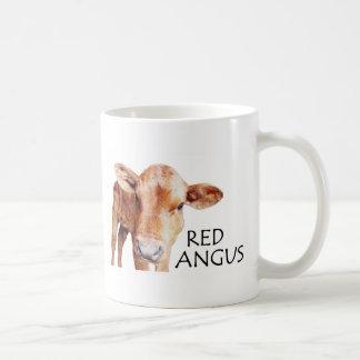 赤いアンガス コーヒーマグカップ