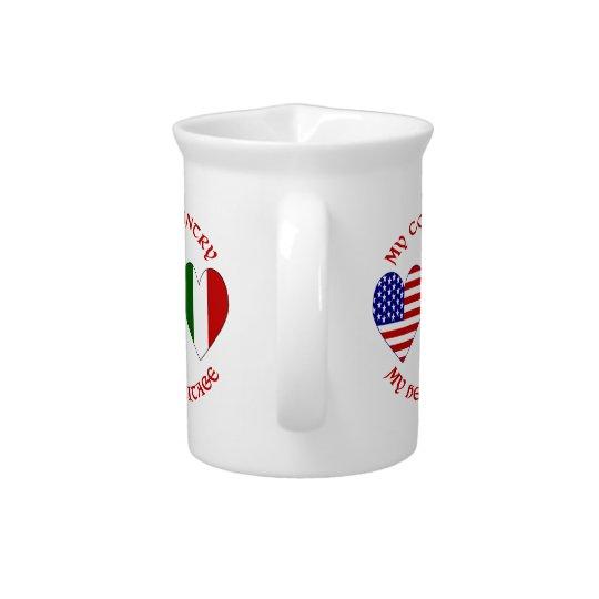 赤いイタリア人米国の国の伝統 ピッチャー