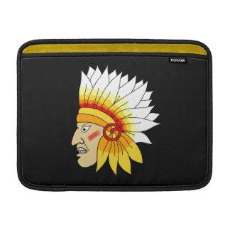 赤いインドの頭部 MacBook スリーブ