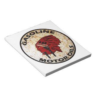 赤いインドガソリンヴィンテージの錫の印のメモ帳 ノートパッド