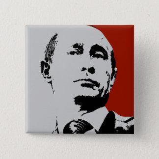 赤いウラジーミル・プーチン 5.1CM 正方形バッジ