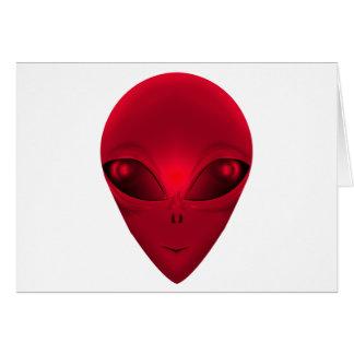 赤いエイリアン カード