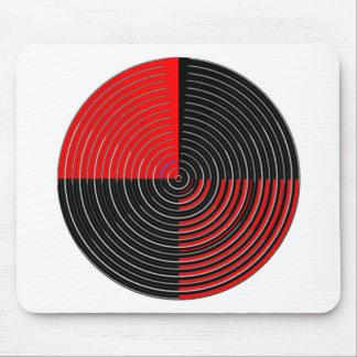 赤いエネルギーチャクラ-銀nの黒い縞 マウスパッド