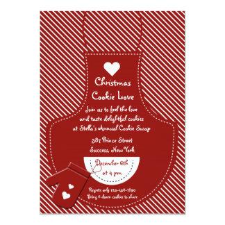 赤いエプロンクッキー交換パーティー カード