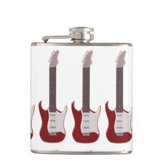 赤いエレキギターのデザイン フラスク