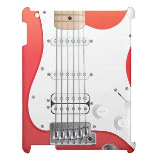 赤いエレキギターのiPadの箱 iPadカバー