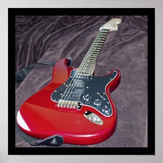 赤いエレキギター ポスター