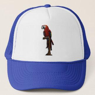 赤いオウムの帽子だけ キャップ