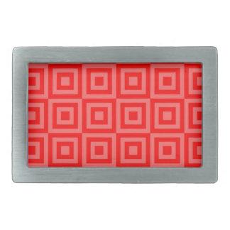 赤いオレンジはベルトの留め金をタイルを張ります 長方形ベルトバックル
