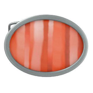 赤いオレンジ縞の楕円形のバックル 卵形バックル