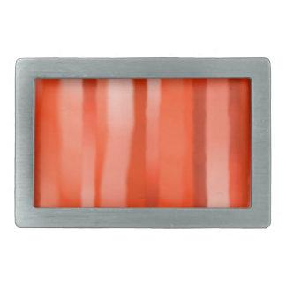 赤いオレンジ縞の長方形のバックル 長方形ベルトバックル