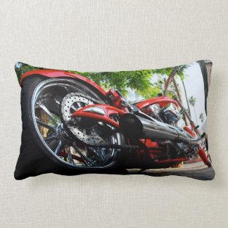 赤いオートバイモーターバイクの写真のクッションの枕 ランバークッション