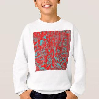 赤いカウボーイの子供のセーター スウェットシャツ