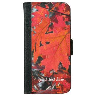 赤いカシの葉 iPhone 6/6S ウォレットケース