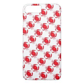 赤いカニによってボルティモアメリーランドはシーフードの箱が斜め飛行します iPhone 8 PLUS/7 PLUSケース