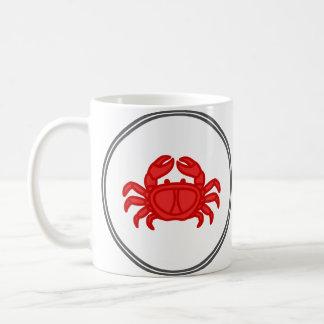 赤いカニ-魚の車海老のカニのコレクション コーヒーマグカップ