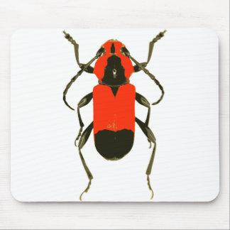 赤いカブトムシのmousepad マウスパッド
