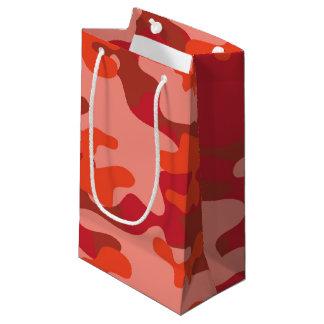 赤いカムフラージュ スモールペーパーバッグ