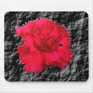 赤いカーネーションの花のファンタジーのマウスパッド マウスパッド