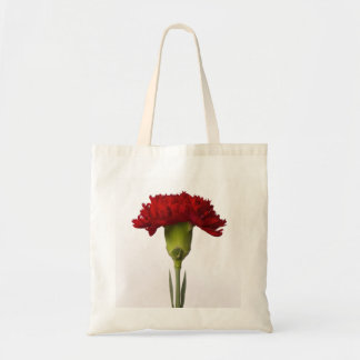 赤いカーネーションの開花のバッグ トートバッグ